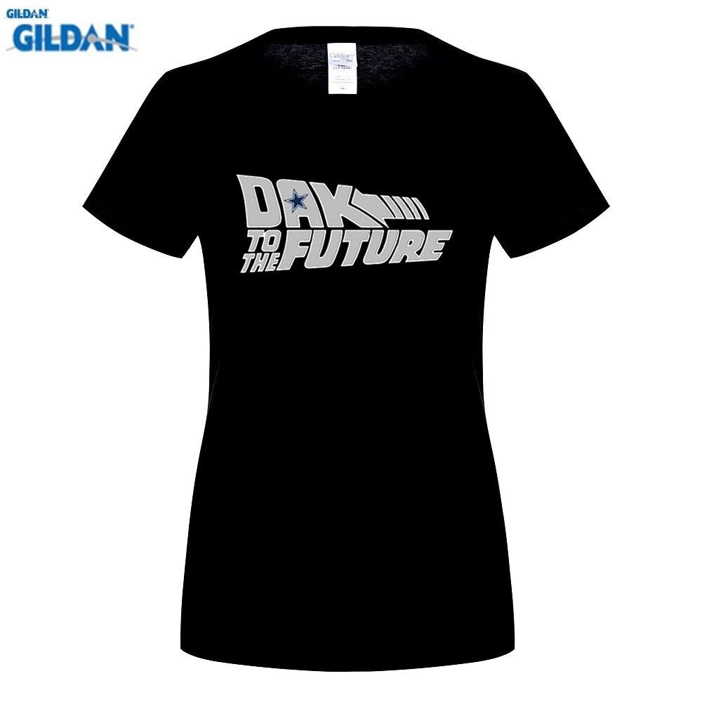 GILDAN est Cow s Dak Prescott Back to the Future T-shirt short sleeve o-neck 100% cotton T shirt