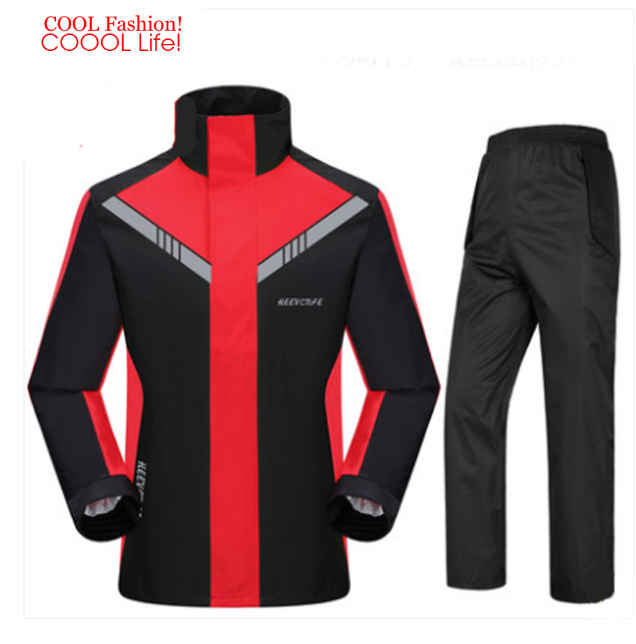 Fashion Super Waterproof Rain Suit Motorcycle Hooded Raincoat para moto impermeable motociclista Rain Coat motocicleta jaquetas