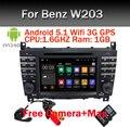 Android 5.1 Автомобиль DVD GPS для Mercedes/Benz C Class W203 2004-2007 c200 C230 C240 C320 C350 CLK W209 2005 GPS Радио WiFi 3 Г Canbus