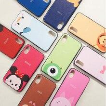 IMIDO Cute cartoon Phone Case For iPhone 7 8 Plus Fashion Hard Fundas Capa Back Cover For iPhone X XR 8 6 5S XS Max 6 8plus Case new iphone case for iphone 11 for iphone11 pro max 5 8 inches 6 1 inches 6 8 inches 6 6s 7 8 plus ix xr max x fashion back cover