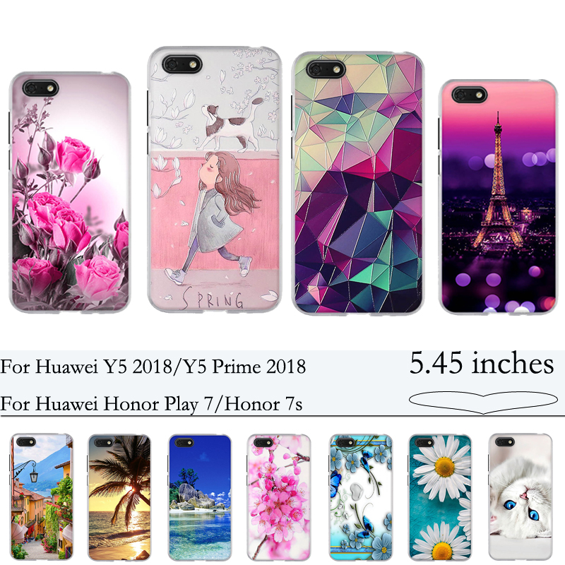 For Huawei Y5 2018/Y5 Prime 2018/Honor Play 7/Honor 7s Case Cover Soft TPU Silicon Phone Cover for Huawei Y5 2018 Case Fundas