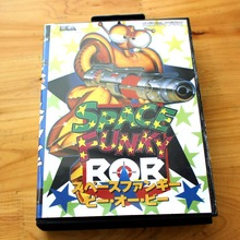 Space Funky Bob 16 Bit MD Game Card with Retail Box for Sega MegaDrive & Genesis Video Game console system