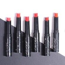 Lápiz labial hidratante taza antiadherente impermeable terciopelo de larga duración 6 colores Sexy rojo marrón pigmentos lápiz labial cosmético