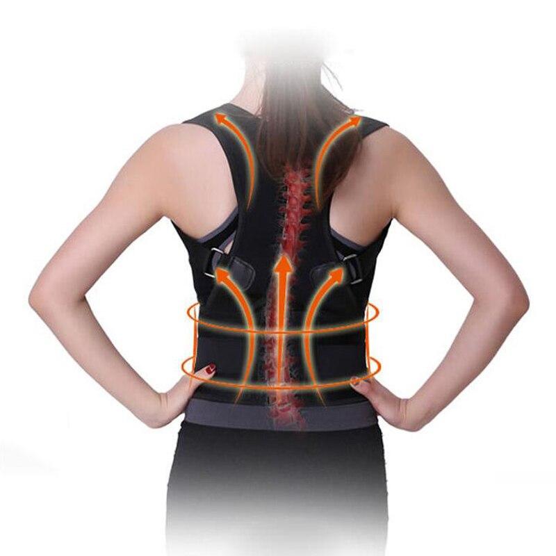 Unisex Adjustable Back Shoulder Corrector Posture Upper Back Support Brace Belt For Men Black Back Support 6 Colors B002