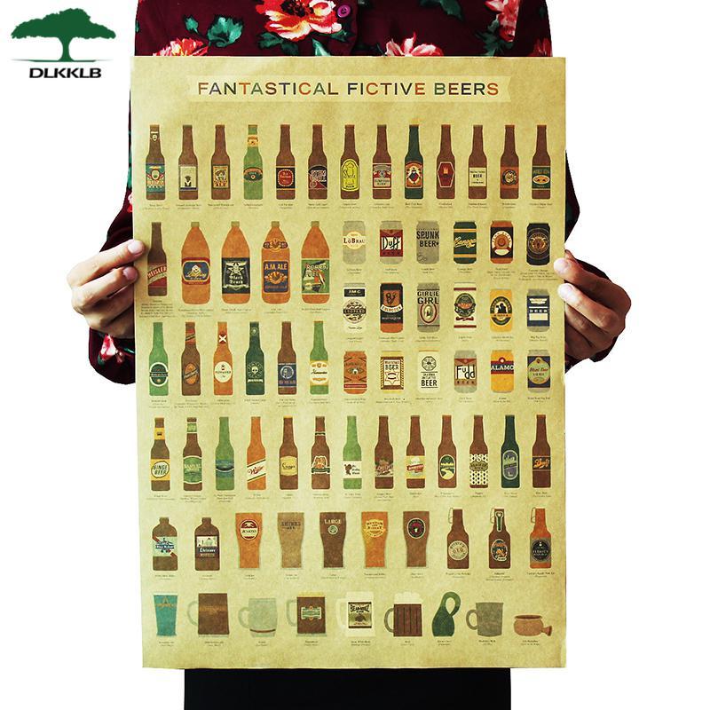 DLKKLB кофе пиво оружие вино коллекция плакат для кафе баров декоративные картины Винтаж Плакат Ретро 51*35 см наклейки на стену - Цвет: As show