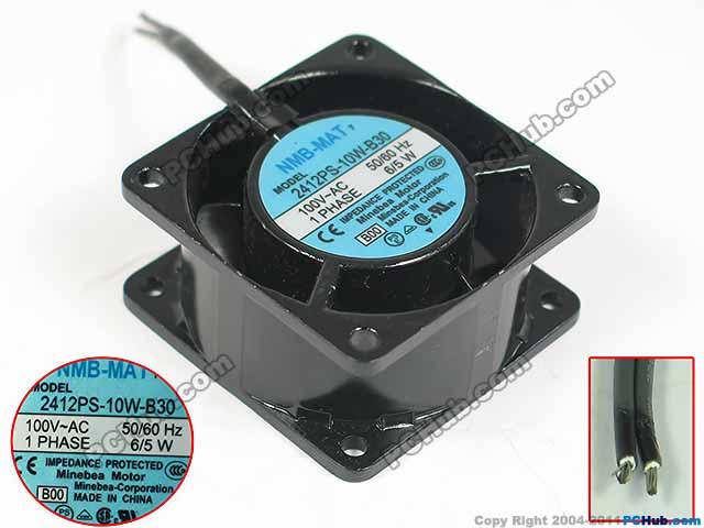 NMB-MAT 2412PS-10W-B30, B00 AC 100V 6/5W 60x60x30mm Server Square fan nmb mat 5915pc 12t b30 a00 dc 115v 35a 2 piece 150x172x38mm server round fan