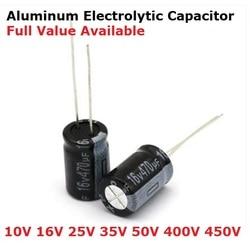 5 peças 400v 450v 1uf 2.2uf 3.3uf 4.7uf 6.8uf 10uf 15uf capacitor eletrolítico de alumínio 22uf, 33uf, 47uf, 68uf, 82uf, 100uf, 150uf