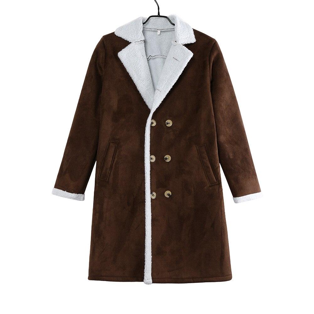JAYCOSIN Men's Wool Warm Winter Trench Long Outwear Button Smart Overcoat Coats waterproof windproof winter jacket men 2