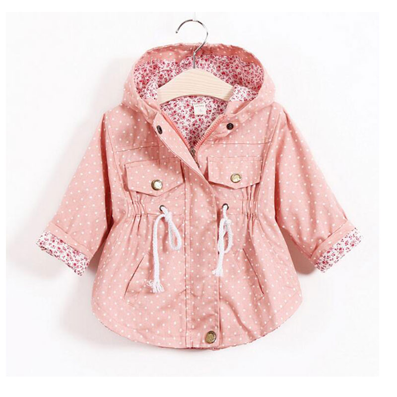 Spring Baby Girl Trench Coats Child Kids Girl Jackets Hooded Clothes Warm Outerwear Sport Children Clothing Newborn Cloth Jacket