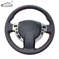 الجلود الاصطناعية عجلة توجيه سيارة غطاء لنيسان قاشقاي X-تريل نيسان NV200 المارقة/مخصص مخصصة القيادة-عجلة