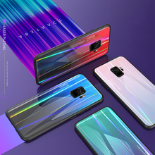 Tempered Glass Case for Samsung Galaxy S9 Plus S9+ Gradient Color Aurora Laser Back Cover S 9