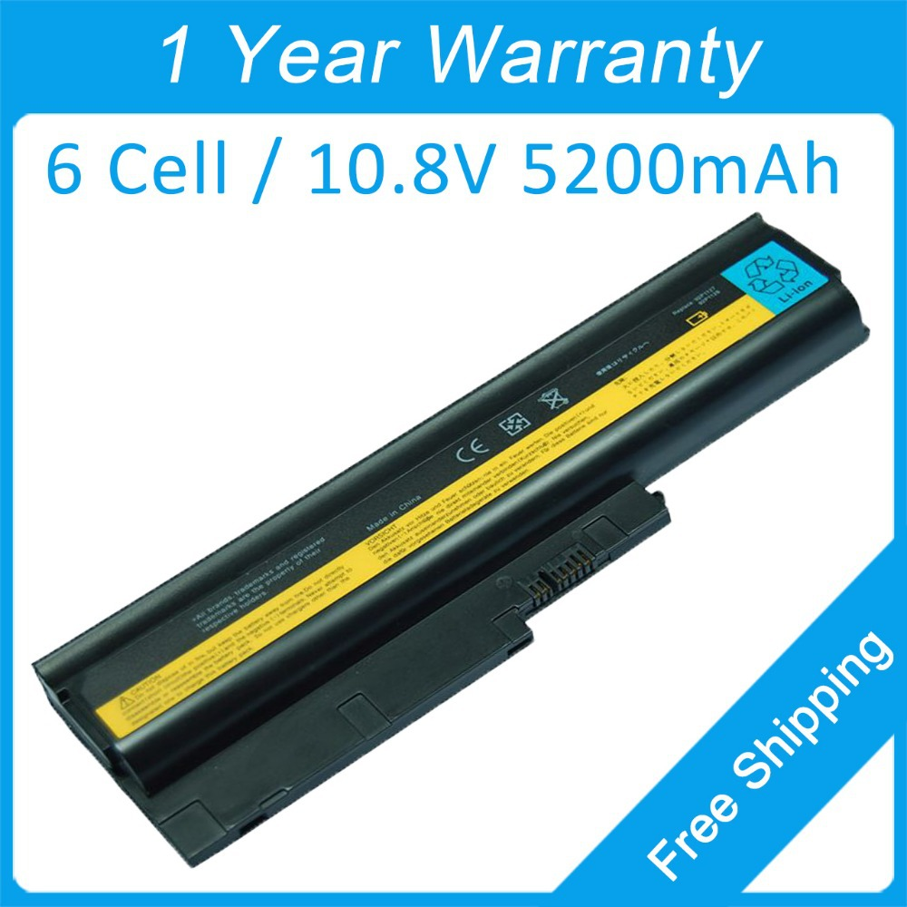 New Laptop Battery For Lenovo Thinkpad T500 T61p T61 R61i W500 SL400c SL500 FRU 42T4513 42T5232 42T5233 42T4651