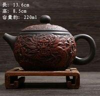 2015 NEW Model YIXING TEAPOT Premium Dragon Tea Pot 220cc BLACK 220ml Capacity Purple Clay Kung