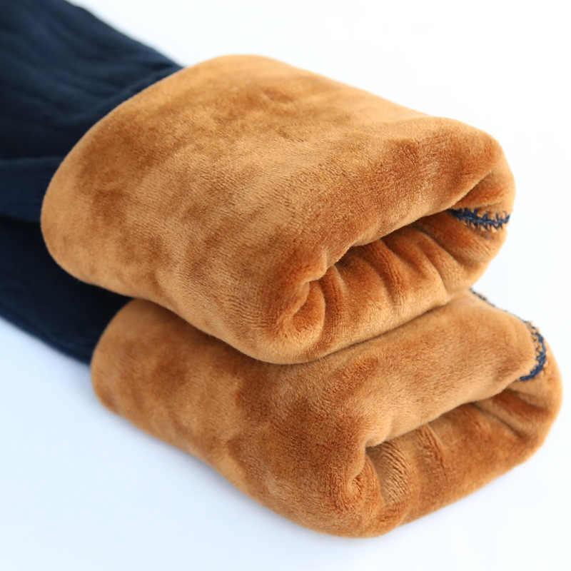 สาว Leggings อบอุ่นฤดูหนาว 2018 ใหม่ Plus กำมะหยี่หนาผ้าฝ้าย 100% ถักกัญชารูปแบบ Bootcut Slim Outwear กางเกง