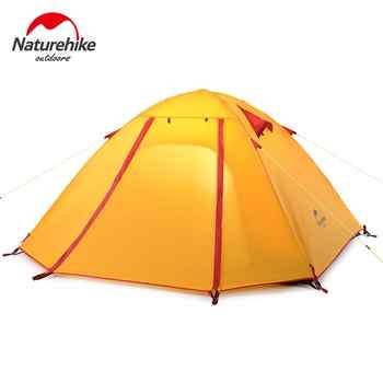 Naturehike Outdoor Camping Tent 2 3 Person Waterproof 5000mm Aluminum Rod 4 Person Hiking Fishing Tourism Family Tent NH15Z003-P - DISCOUNT ITEM  0 OFF All Category