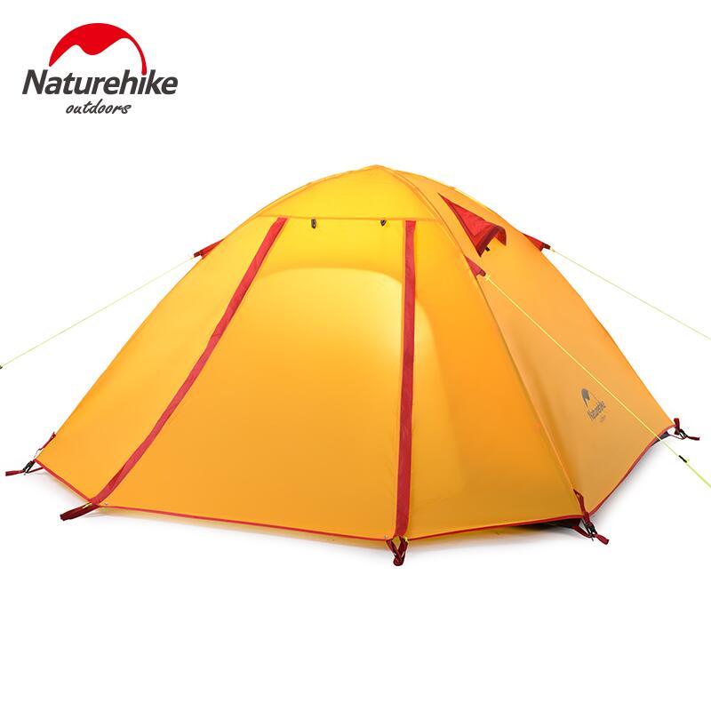 ФОТО Naturehike Outdoor camping tent 2-4 person aluminum pole waterproof 5000mm Double layer Hiking Travel Fishing tent NH