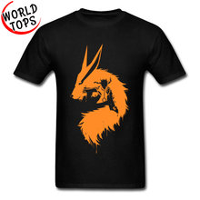 Goku Tshirt Men's Dragon Ball Z Naruto Kurama Horse Printed On T-shirts 100% Cotton Summer Cool Tops & Tees Normal Sweatshirts(China)