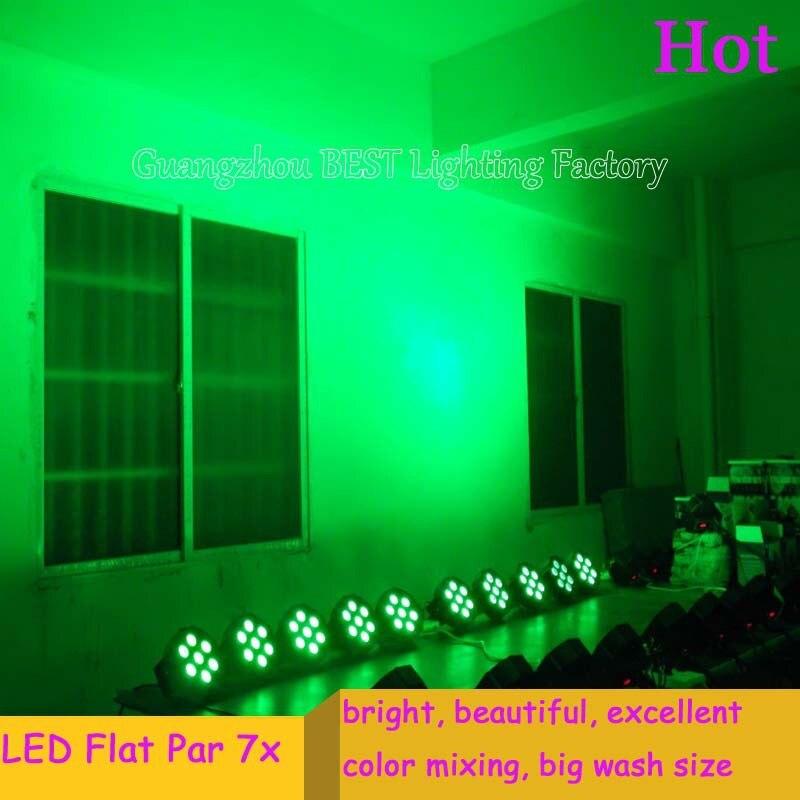 12pcs/lot Fast Shipping Good Quality Cheapest LED Flat Par Tri-7 Tri-RGB LED Slim Par Light good quality 4pcs lot 5w cree led