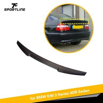 Spoiler Traseiro Para BMW Série E46 3 Base 4-Porta Sedan 1998-2005 Fibra De Carbono Trunk Lip