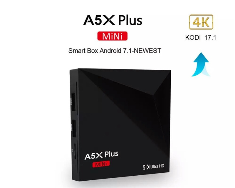 A5X Plus Android 7.1 TV BOX RK3328 Rockchip 1GB 8GB/2GB 16GB 2.4G WIFI 100M LAN HD2.0 USB3.0 4K TV Media Player