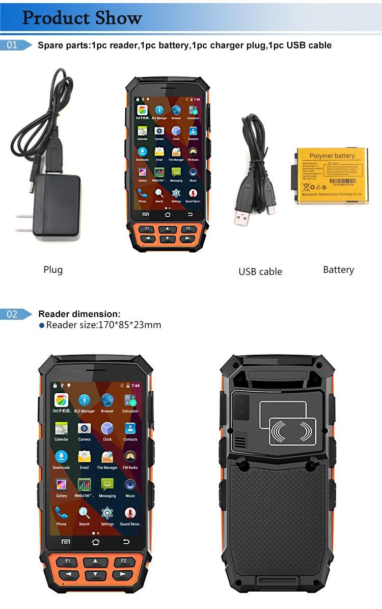 Dispositivo sem fio handheld áspero do pda