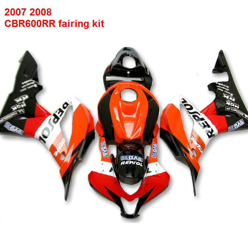INJECTION Motorcycle fairings For HONDA CBR600RR honda cbr 600rr 07 * 08 ABS red fairing kit /x15 for honda cbr600rr 2007 2008 2009 2010 2011 2012 motorbike seat cover cbr 600 rr motorcycle red fairing rear sear cowl cover