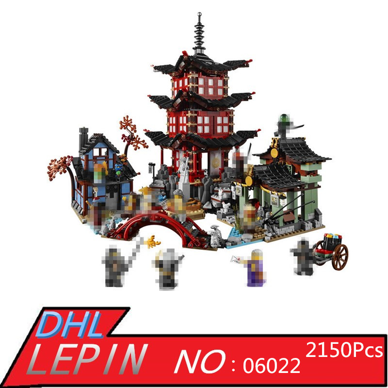 LEPIN 06022 2150Pcs Ninja Temple of  Model Building Kits Blocks Jay Kai Cole Bricks Compatible Children Toys Model Gift [yamala] 15pcs lot compatible legoinglys ninjagoingly cole kai jay lloyd nya skylor zane pythor chen building blocks ninja toys