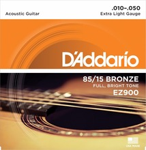D'Addario EZ900 Great American Bronze Extra Light Acoustic Guitar Strings 010-050