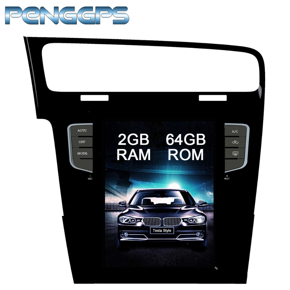 10 4 Inch Tesla Style 64G Android 7 1 Car GPS Navigation for Volkswagen VW GOLF
