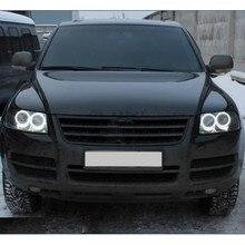 Для Volkswagen VW Touareg 2003 2004 2005 2006 ультра ярсветильник дневной свет DRL CCFL ангельские глаза комплект демонических глаз теплый белый кольцо с ореолом