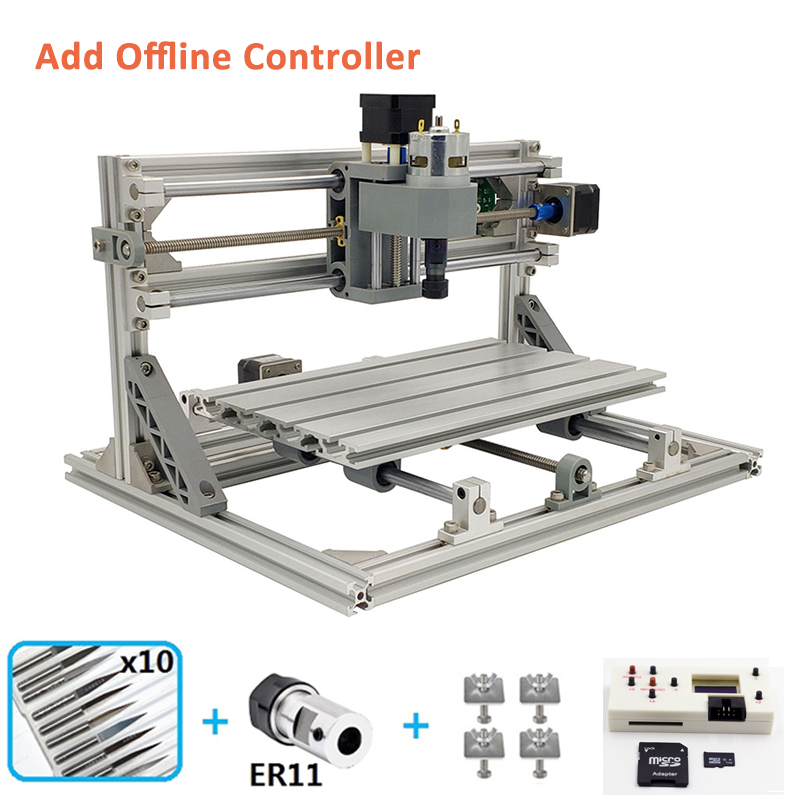 Mini 3018 Laser Engraving CNC Machine With 1GB TF Memory Card for Wood PCB PVC 10