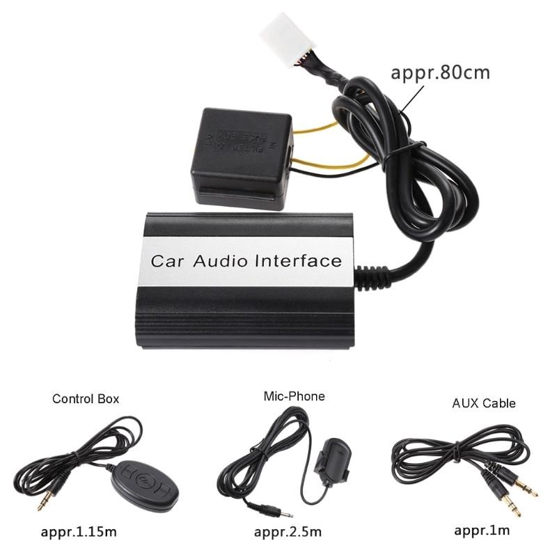 Hot nouveau 12 broches Auto voiture Bluetooth musique kit mains libres MP3 AUX adaptateur Interface USB charge pour Toyota Lexus Scion 10166 - 4