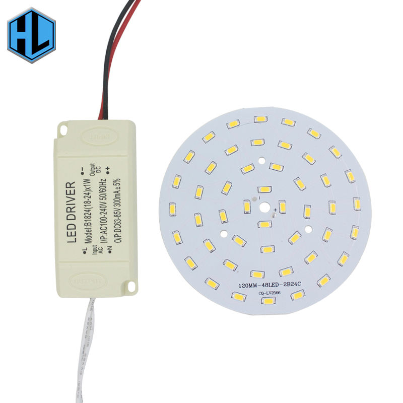 DIY LED 24W SMD5730 Light-emitting diode chip+plastic shell LED driver power supply for LED ceiling light free shipping 10w 12w ultra violet uv 365nm 380nm 395nm high power led emitting diode on 20mm cooper star pcb
