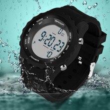 Mode hommes de montre de sport hommes de podomètre numérique montre LED militaire montre étanche en plein air loisirs montre relogio masculino