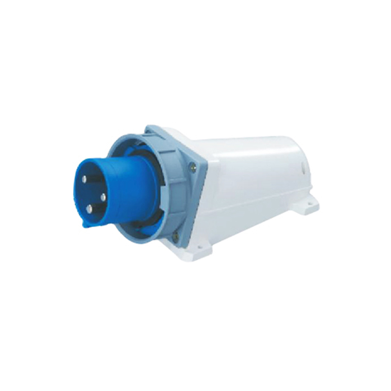 63A 3Pin industrial implement socket connector SF-533 surface mounted appliance socket 220-240V~2P+E cable connector IP67  63a 3pin 220 240v industrial waterproof hidden oblique socket waterproof grade ip67 sf 433