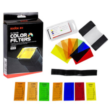 Godox CF 07 Universal 35 Pieces Speedlite Color Filter Kit Photography Gels Filters Set for Canon Nikon Sony Yongnuo Flash Light
