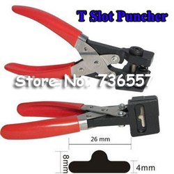 Free shipping T shape hole punch shapes furadores hardballs pvc card plier 26x8x4mm stationery supply