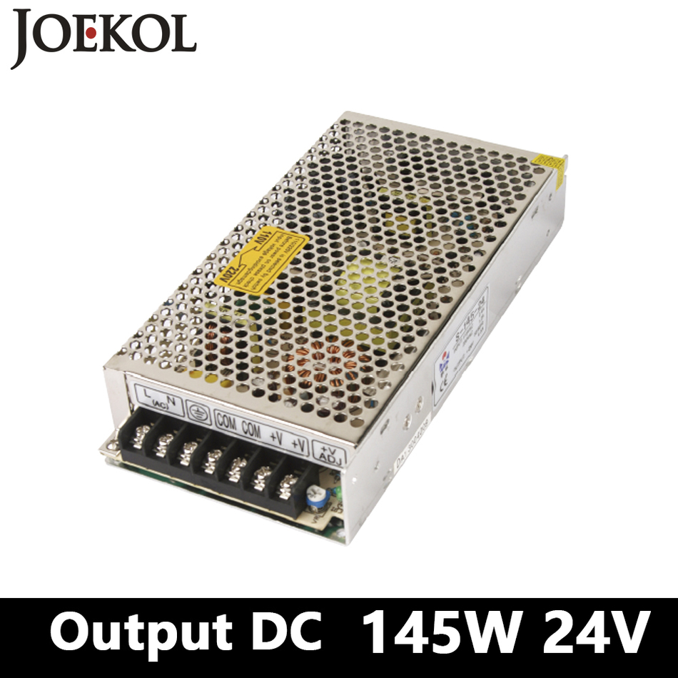 Switching Smps Power Supply 145W 24v 6A,Single Output Watt Power Supply For Led Driver,voltage Converter AC110V/220v To Dc 24v