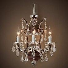Arandela lâmpada de parede luz moderna arte decoração do vintage lustre de cristal iluminação de parede para casa decoração da sala de jantar do hotel a preço barato