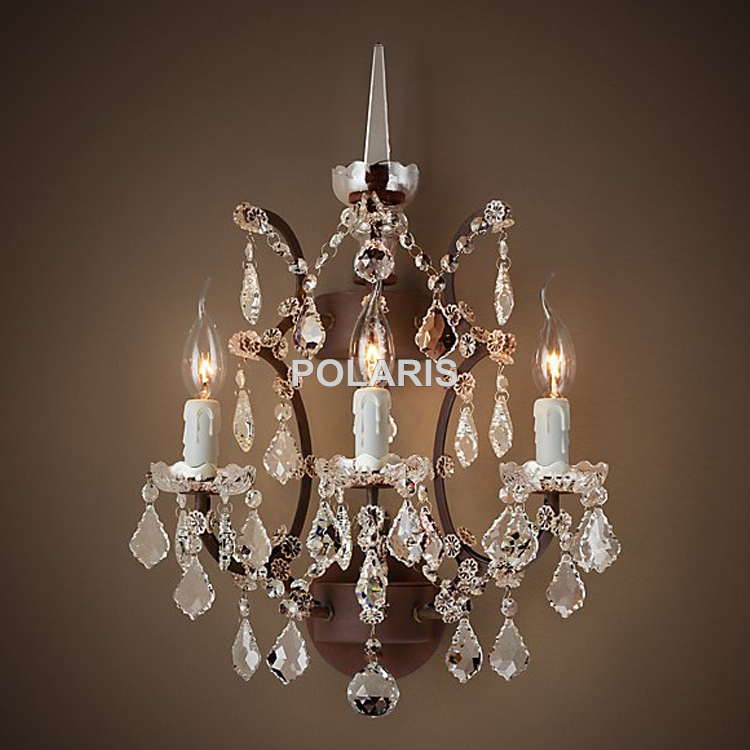 Popular wall crystal chandelier buy cheap wall crystal for Chandelier mural antique