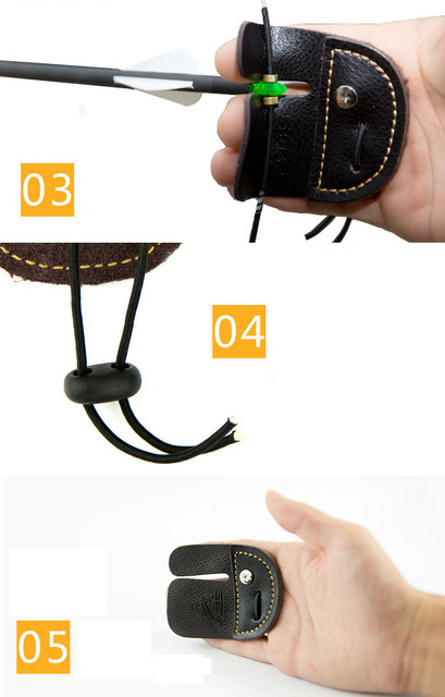 Finger Recurve Bow Accessories Mediterranean Finger Guard Thick Leather Bow Straight Finger Guard Finger Guard Archery