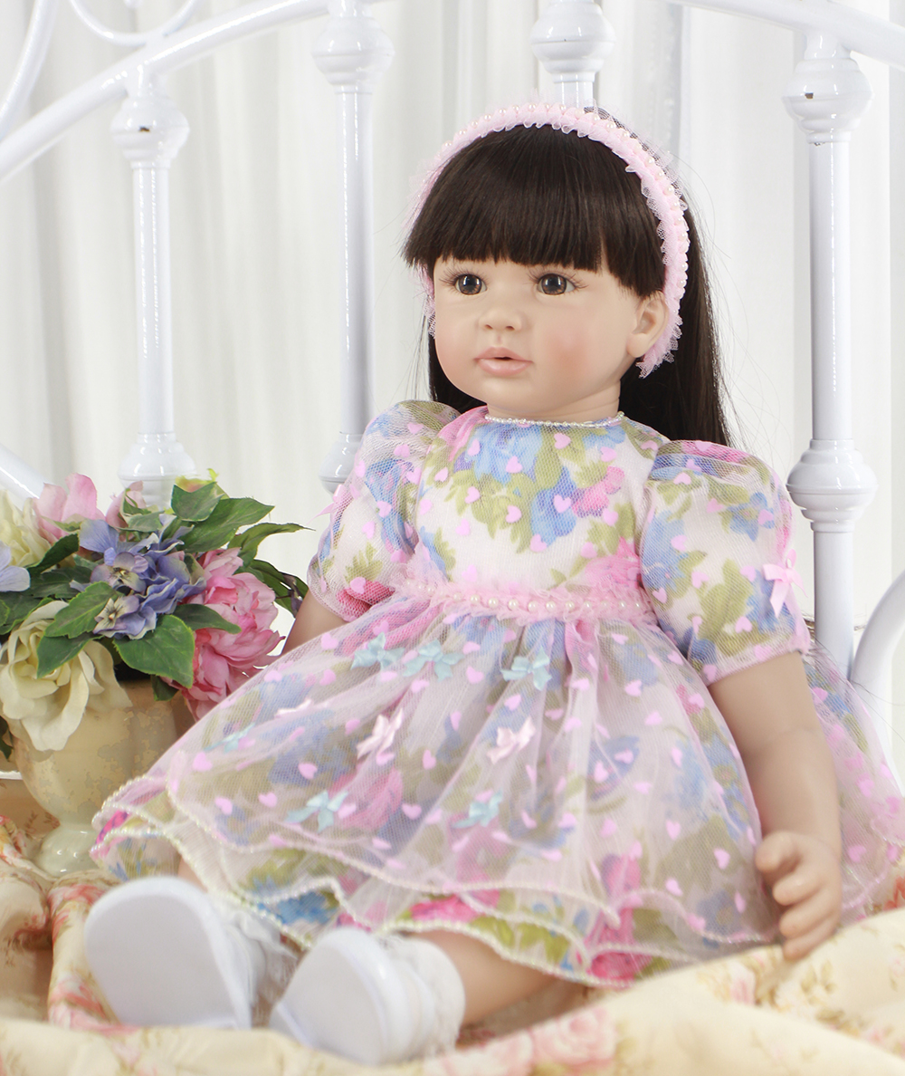 Pursue 24/60 cm Silicone Reborn Girl Baby Doll Toys for Sale Princess Toddler Babies Dolls Birthday Gift Limited Edition Doll pursue 16 42cm american girl dolls silicone baby dolls for sale realista life like dolls toys for children doll christmas gift