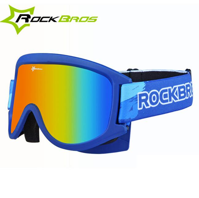 ROCKBROS Bicycle Snow Ski Glasses Protective Cycling Outdoor Goggles Anti-Fog PC Lenses TPU Frame Two Style