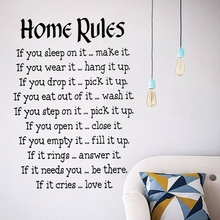 New arrival wall art DIY home decoration removable English Creative large stickers living room bedroom