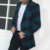 Novo 2017 Mens Designer de Roupas de Estilo Britânico de Lã Cashmere Trench Coat Outono Jaqueta Corta-vento Dos Homens Casaco Xadrez Casacos
