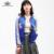 Bella philosophy 2017 primavera outono dois lados desgaste reversível mancha cetim bordado lembrança bomber jacket acolchoado foto real