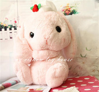 Kawaii Kids Plush Toys Japanese Amuse Anime Lop Christmas Edition Doll Cute Adorable Bunny Soft Rabbit