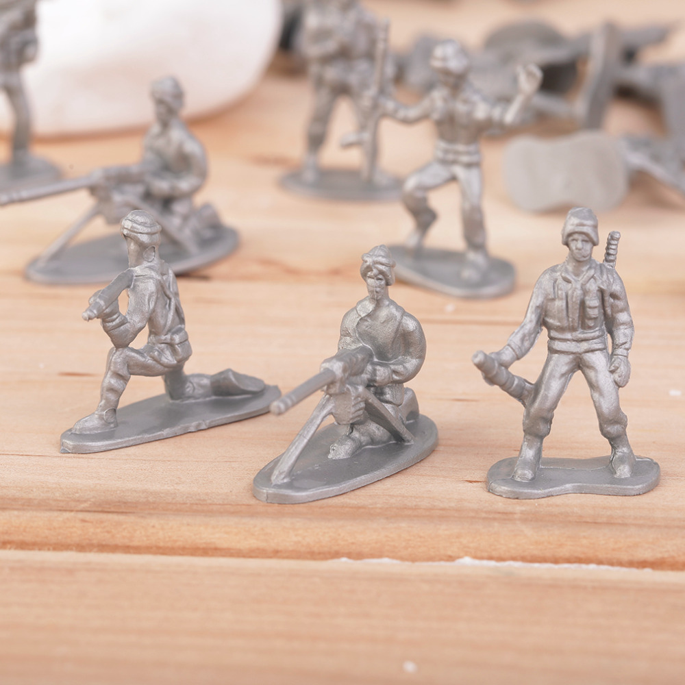 OCDAY 100pcs/Pack Military Plastic Toy Soldiers Army Men Figures 12 Poses Gift New Sale