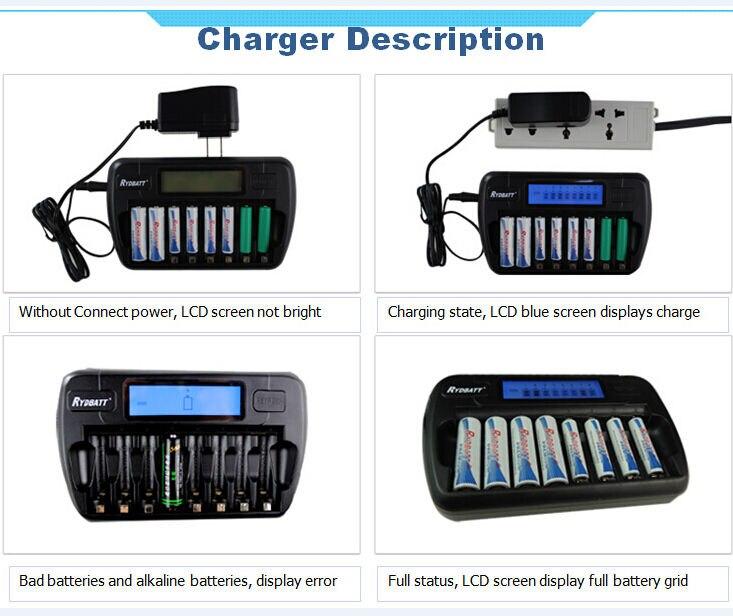 OEM фабрика сертифицирована 16 слотов ЖК-дисплей Smart Зарядное устройство для AA AAA Ni-MH NI-CD Перезаряжаемые ячеек Батарея 16-банки с US/EU