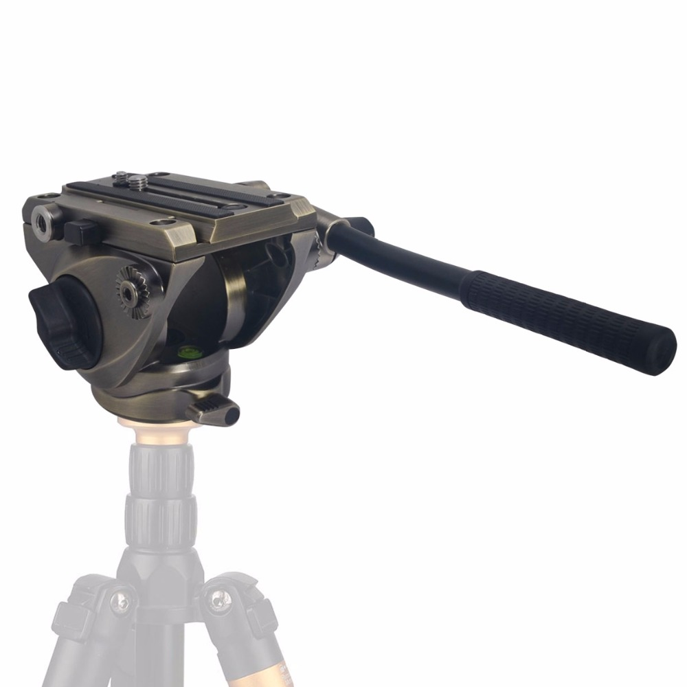 Mcoplus легкий micro fluid видеоголовка с Quick Release и 1/4 Винта и 3/8 Винт-Максимальная Нагрузка 5 КГ